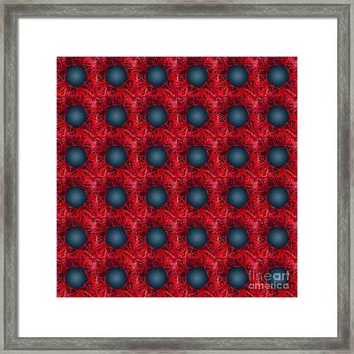Black Spheres Pattern Framed Print by Gaspar Avila