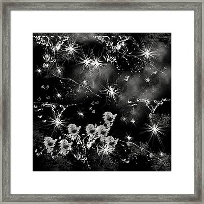 Black Square By Jenny Rainbow Framed Print