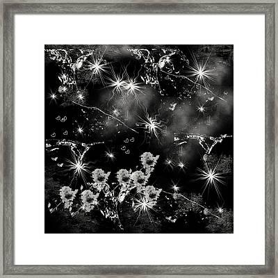 Black Square By Jenny Rainbow Framed Print by Jenny Rainbow