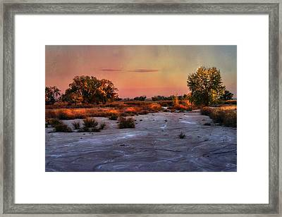 Framed Print featuring the photograph Black Squirrel Creek Fall Scape by Ellen Heaverlo