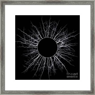 Black Star Framed Print by Michal Boubin