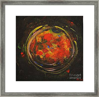 Black Sun Framed Print