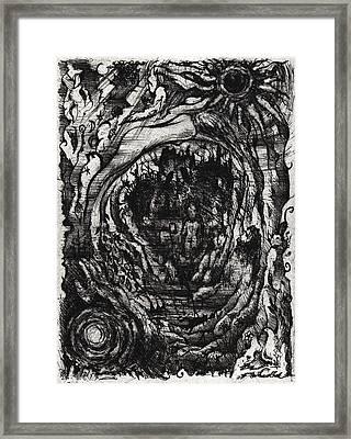 Black Sun Moon Framed Print