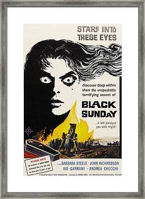 Black Sunday, Barbara Steele, One-sheet Framed Print
