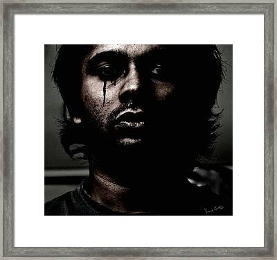 Black Tears Framed Print by Venura Herath