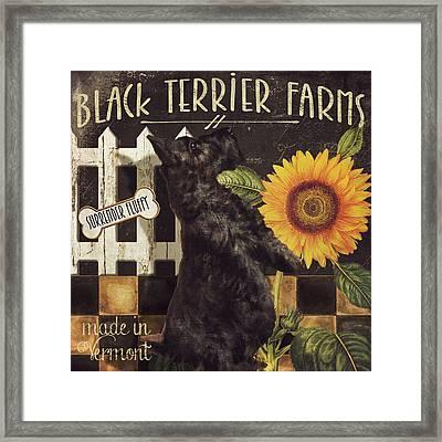 Black Terrier Farms Framed Print