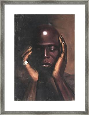 Black Thought Framed Print by L Cooper