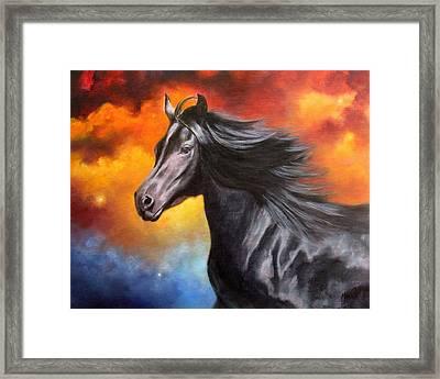 Black Thunder Framed Print by Marina Petro