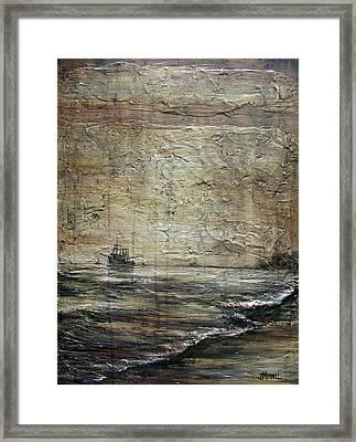 Black Tide Framed Print by Judy Merrell