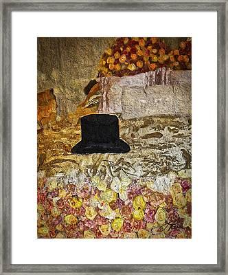 Black Top Hat Framed Print by Joan Reese