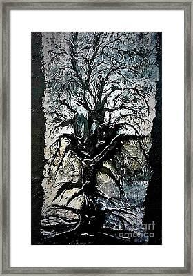 Black Tree Framed Print