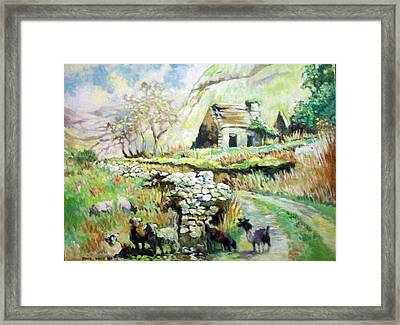 Framed Print featuring the painting Black Valley- Co Kerry-ireland by Paul Weerasekera