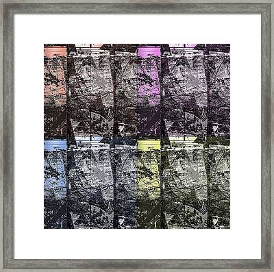 Black Variance Pattern Framed Print by KA Davis