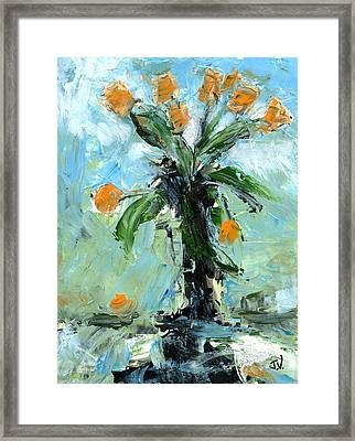 Black Vase Framed Print