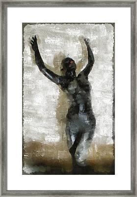 Black Venus By Mb Framed Print by Mary Bassett
