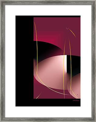 Black Vs White Vs Red Framed Print