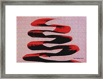 Black Walnut Ink Abstract #10 Framed Print