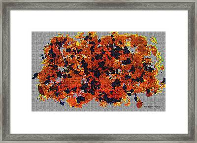 Black Walnut Ink Abstract With Splats Framed Print