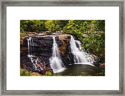 Black Water Falls In West Virginia In Early Autumn Framed Print by Vishwanath Bhat