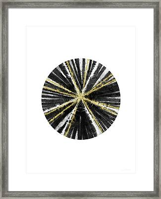 Black, White And Gold Ball- Art By Linda Woods Framed Print by Linda Woods