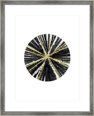 Black, White And Gold Ball- Art By Linda Woods Framed Print