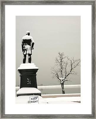 Black White Day Framed Print