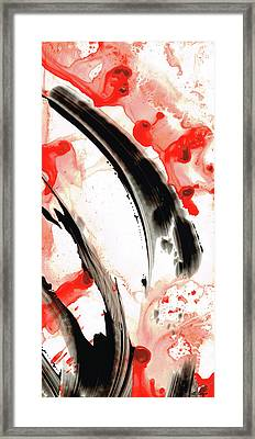 Black White Red Art - Tango 3 - Sharon Cummings Framed Print by Sharon Cummings