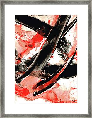 Black White Red Art - Tango - Sharon Cummings Framed Print by Sharon Cummings