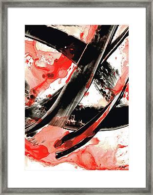 Black White Red Art - Tango - Sharon Cummings Framed Print