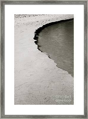 Black & White Shoreline Framed Print