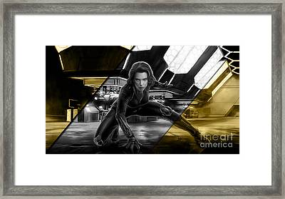 Black Widow Collection Framed Print by Marvin Blaine