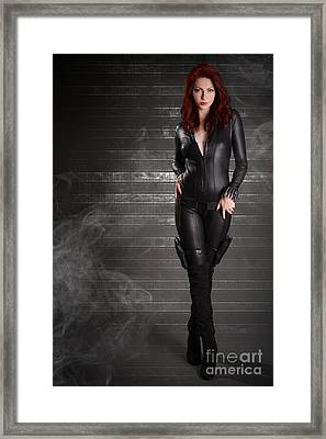 Black Widow Framed Print by Jt PhotoDesign