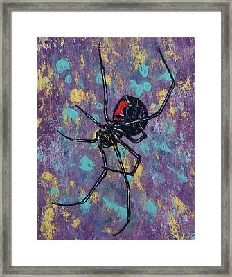Black Widow Framed Print by Michael Creese