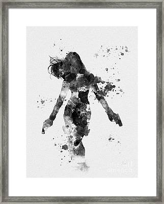 Black Widow Framed Print by Rebecca Jenkins