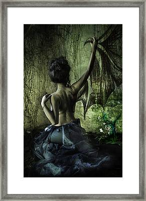 Black Wing Framed Print by MrsRedhead Olga