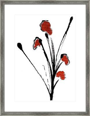 black with a touch of red  A Framed Print by Mimo Krouzian