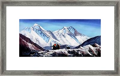 Black Yak On Everest Base Camp Framed Print