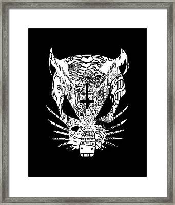 Black Zef Graffiti Rat Framed Print by Jera Sky