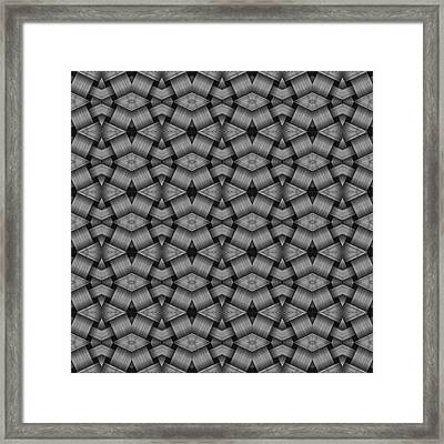 Blackand Gray Geometric Pattern Framed Print by Gina Lee Manley