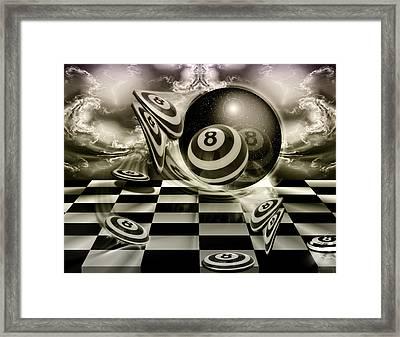 Blackandwhiteball Framed Print by Draw Shots