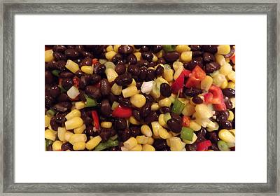 Blackbean Salad Framed Print