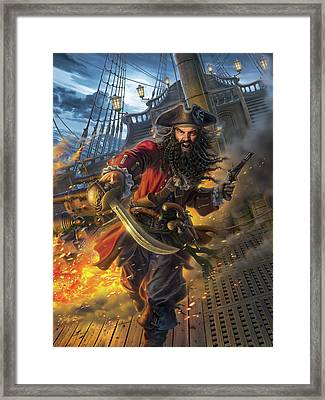Blackbeard Framed Print by Mark Fredrickson