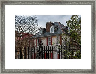 Blackbeard Pirate House Framed Print by Dale Powell