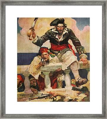 Blackbeard The Buccanneer Framed Print by ArtworkAssociates