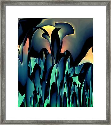 Blackbird Framed Print by Barry W King