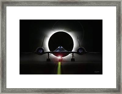 Blackbird Eclipse Framed Print