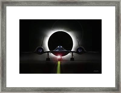 Blackbird Eclipse Framed Print