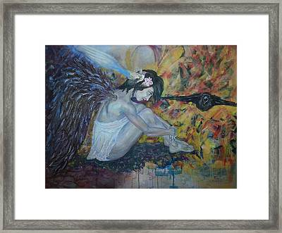 Blackbird Framed Print by Edward Tomilov