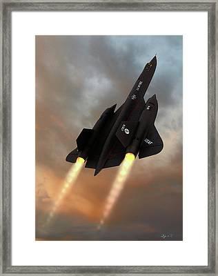 Blackbird Rising Framed Print