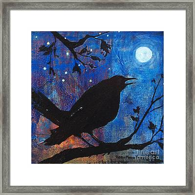 Blackbird Singing Framed Print
